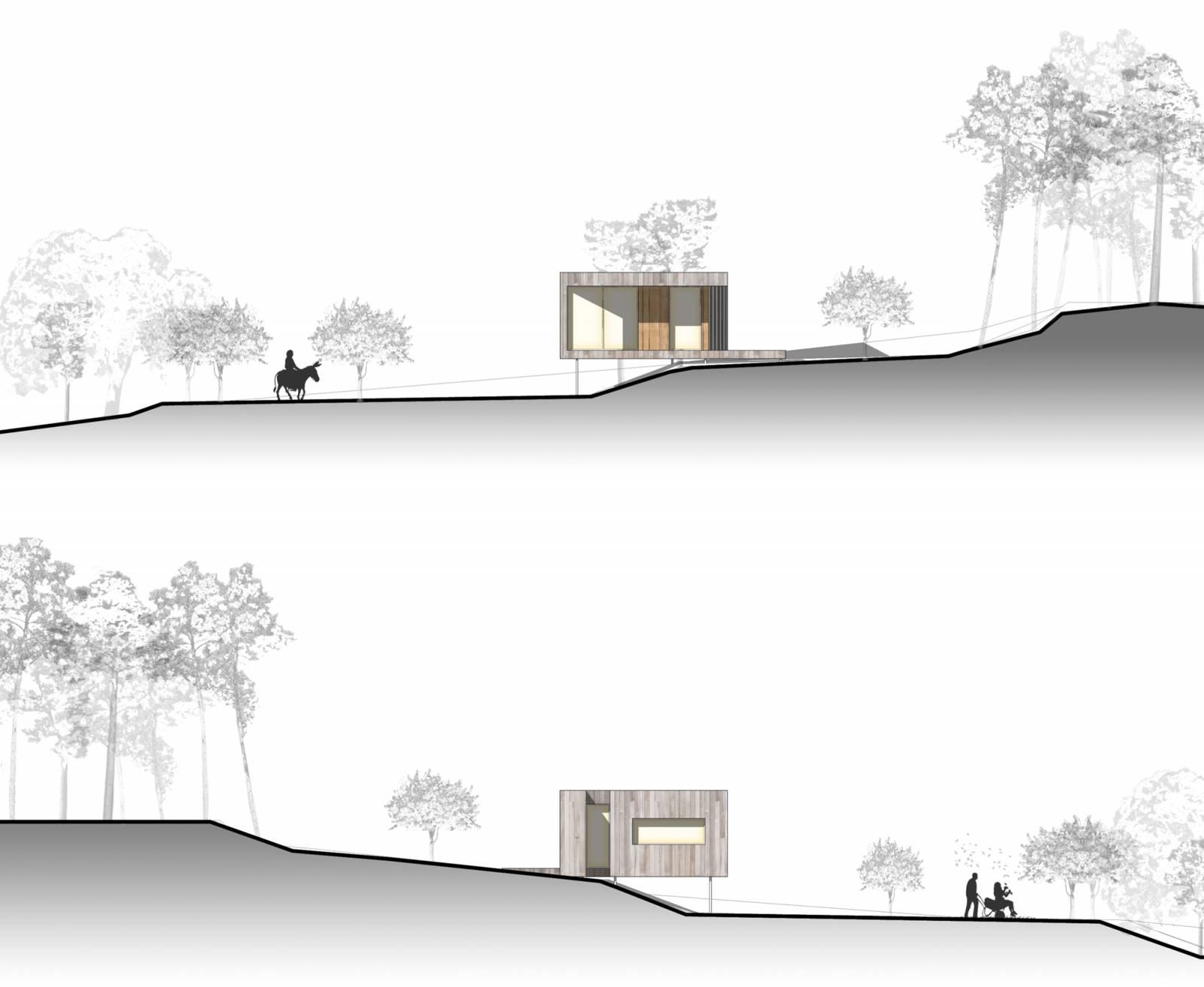 Construction d 39 une maison en bois de plain pied sur un for Honoraire d un architecte