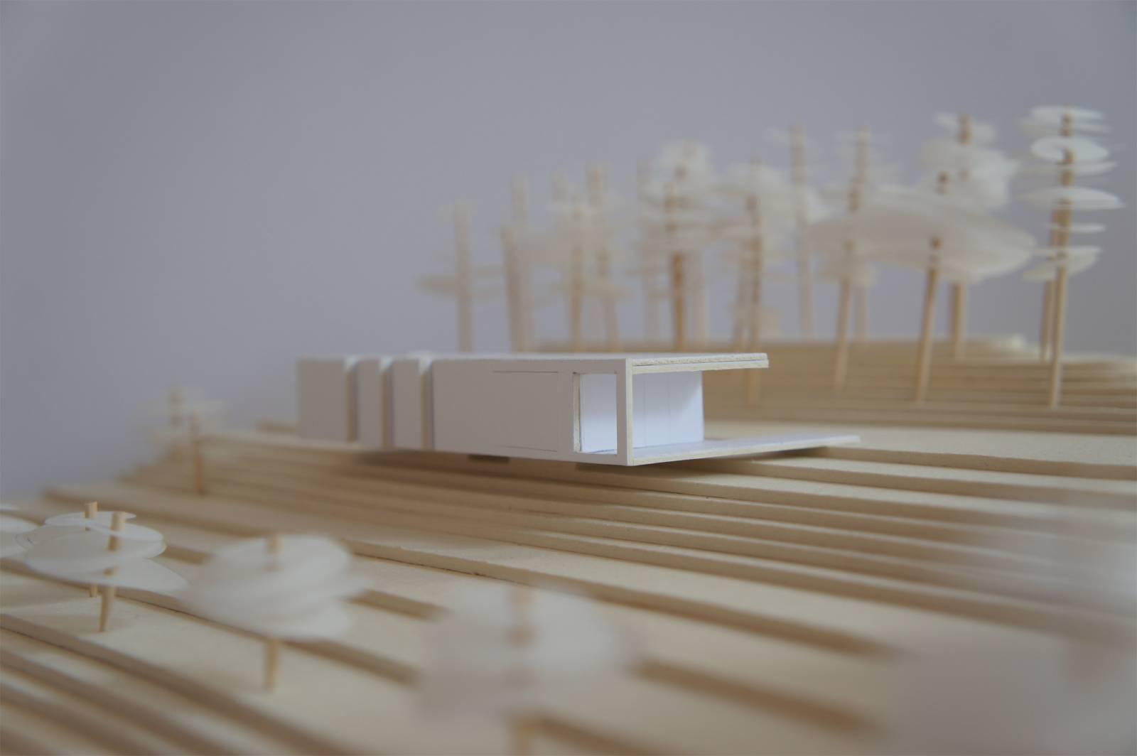 Charming facade maison plain pied 8 maison bois sur of for Maison plain pied sur terrain en pente